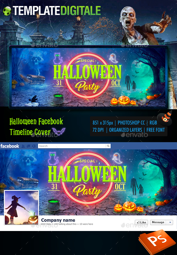 Halloween Cover - Facebook Timeline Covers Social Media