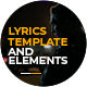 Lyrics Template and Elements - VideoHive Item for Sale