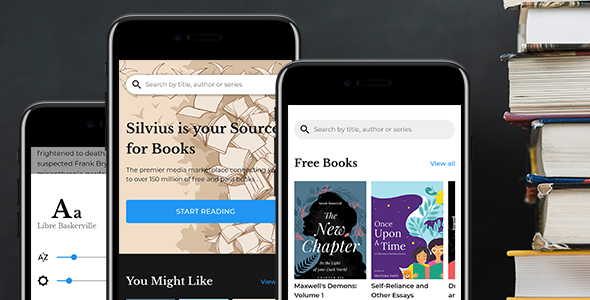 Silvius – Book Store & Library Mobile Template