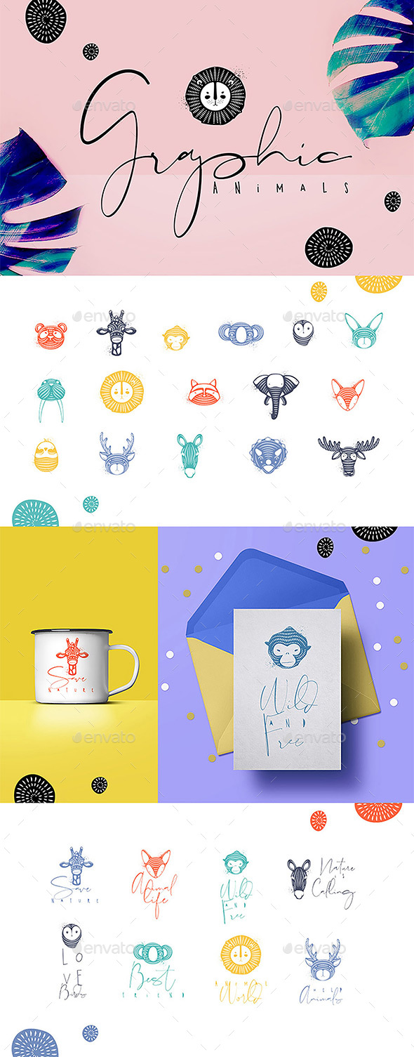 Graphic Animals - Animals Characters
