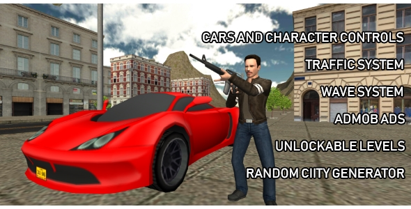Crime Wars of San Andreas - GTA Style iOS Unity Game            Nulled