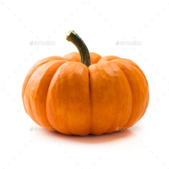 Fresh orange miniature pumpkin isolated - Stock Photo - Images