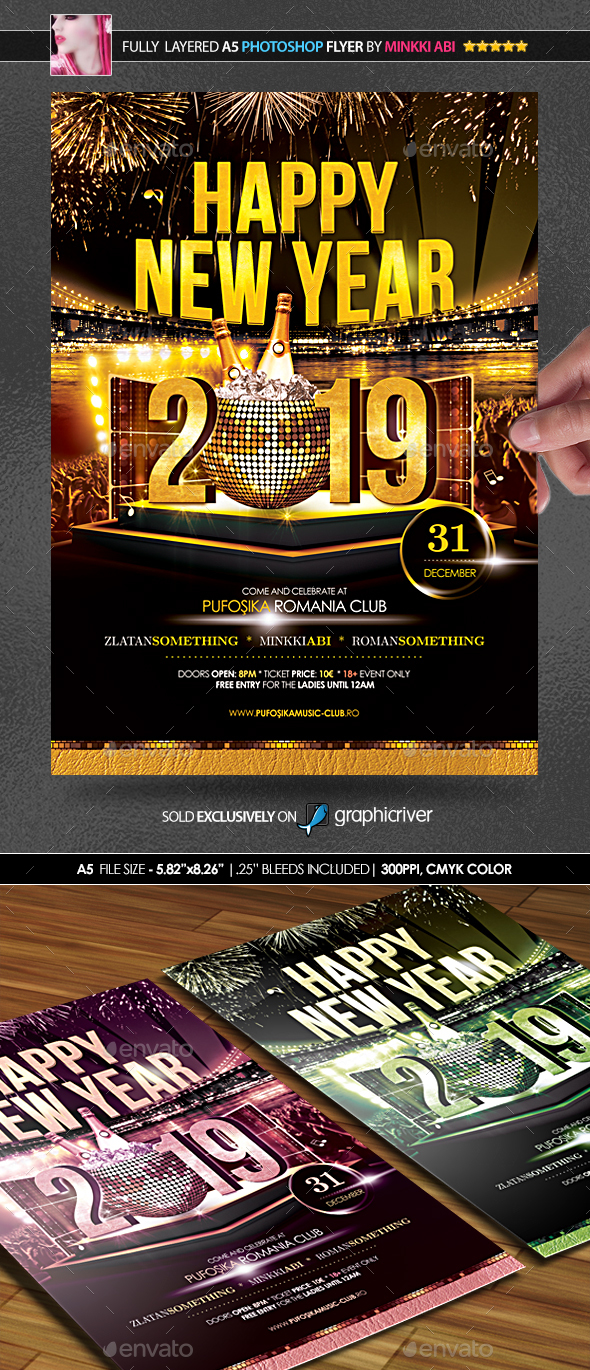 Happy New Year Poster/Flyer - Events Flyers