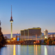 Dusk at the river Spree in Berlin - PhotoDune Item for Sale
