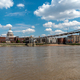 The river Themse, the Millennium Bridge and the St. Paul's Cathedral  - PhotoDune Item for Sale