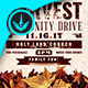 Fall Harvest Community Drive Church Flyer Template - GraphicRiver Item for Sale