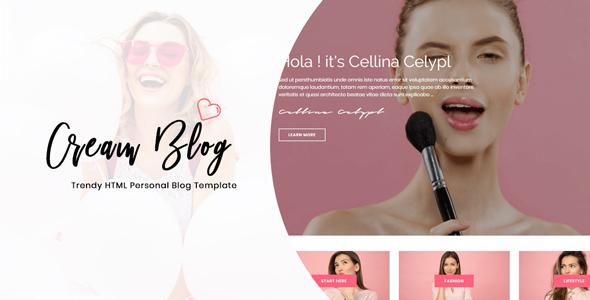 Cream Blog - Trendy HTML Template