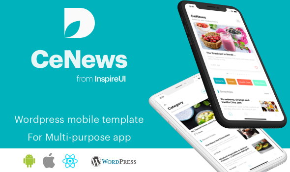 CeNews - Multipurpose Wordpress React Native app            Nulled