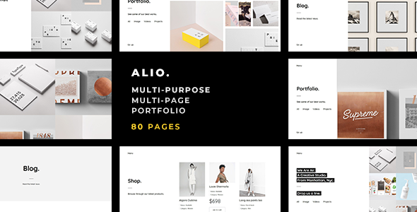 Alio — Minimal Multi-Purpose / Multi-Page Portfolio Template