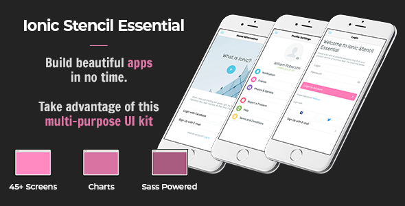Ionic Stencil Essential - UI Kit for Ionic 3 and Ionic 4 Mobile apps - CodeCanyon Item for Sale