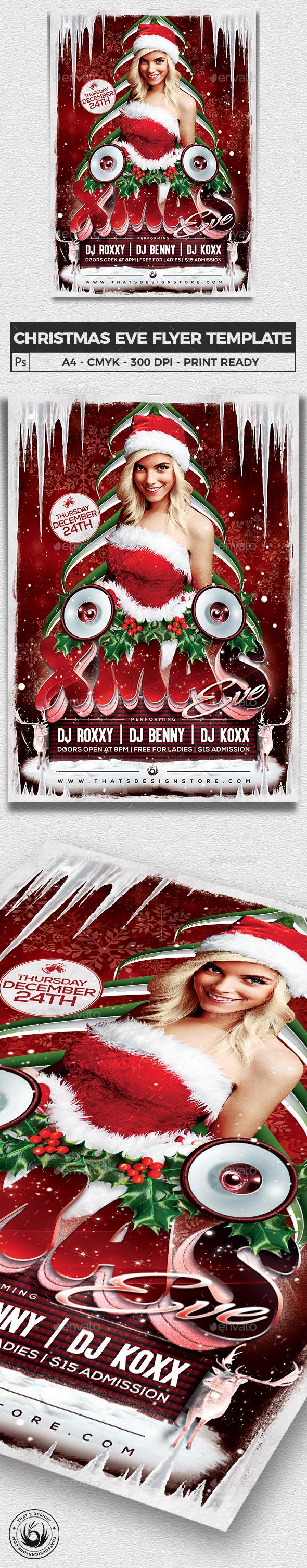 Christmas Eve Flyer Template V1 - Holidays Events