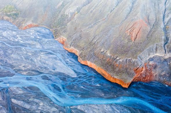 xinjiang anjihai grand canyon closeup - Stock Photo - Images
