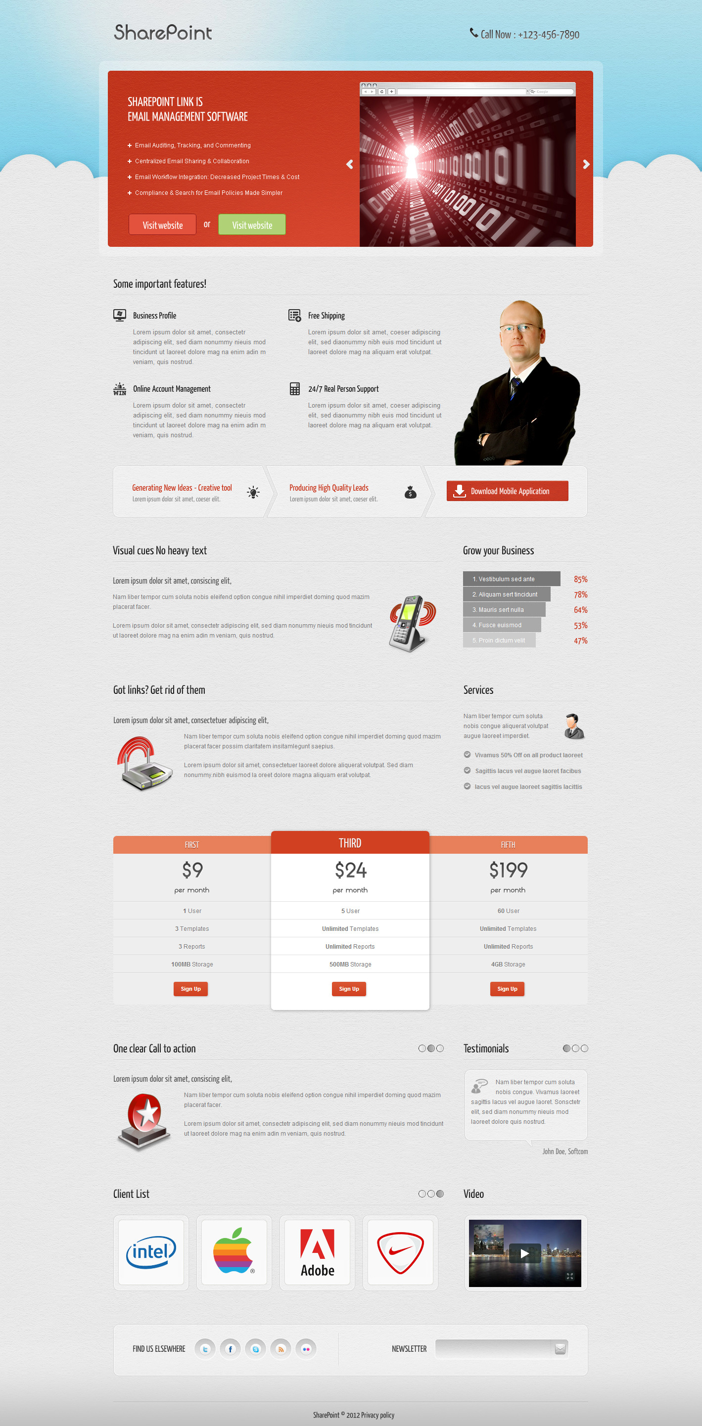 Sharepoint landing page by owltemplates themeforest sharepoint landing page landing pages marketing screenshot01indexg pronofoot35fo Choice Image