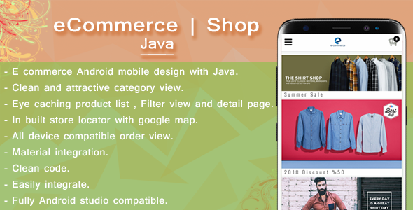 Android E-Commerce template | Java            Nulled