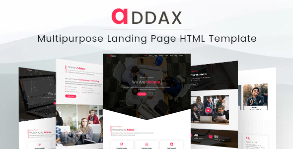 Addax - Multipurpose Landing Page HTML Template - Business Corporate