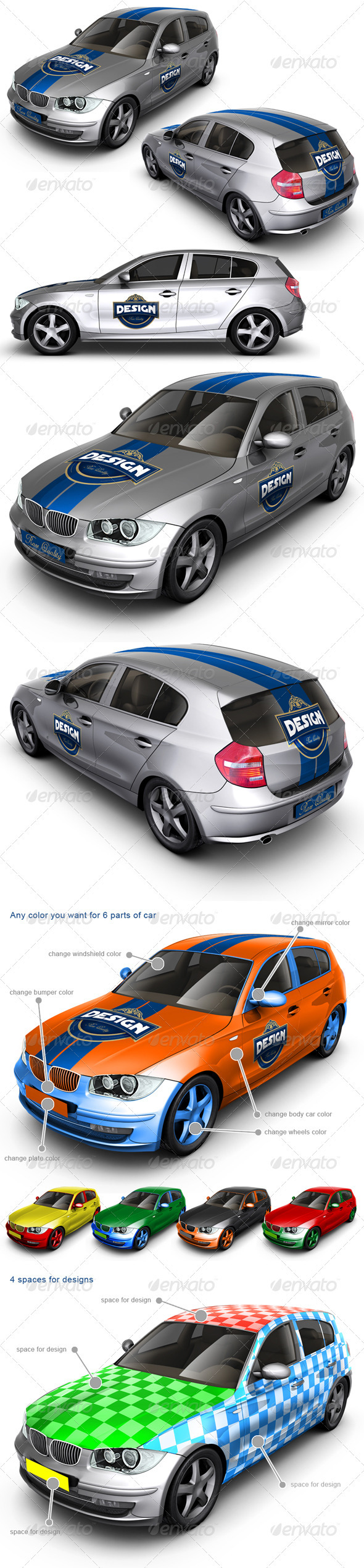 Executive/Family Car Mock Up - Vehicle Wraps Print