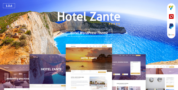 Hotel Zante -  Hotel WordPress Theme - Travel Retail