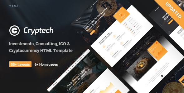 Cryptech - Investments, Consulting, ICO and Cryptocurrency WordPress Theme - Technology WordPress