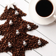 Beans in shape of fir and cup of coffee - PhotoDune Item for Sale