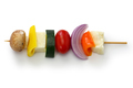 halloumi cheese vegetables skewers kebab ingredients, healthy vegetarian dish - PhotoDune Item for Sale
