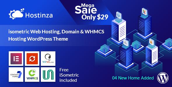 Hostinza - Isometric Domain & Web Hosting Wordpress Theme - Hosting Technology