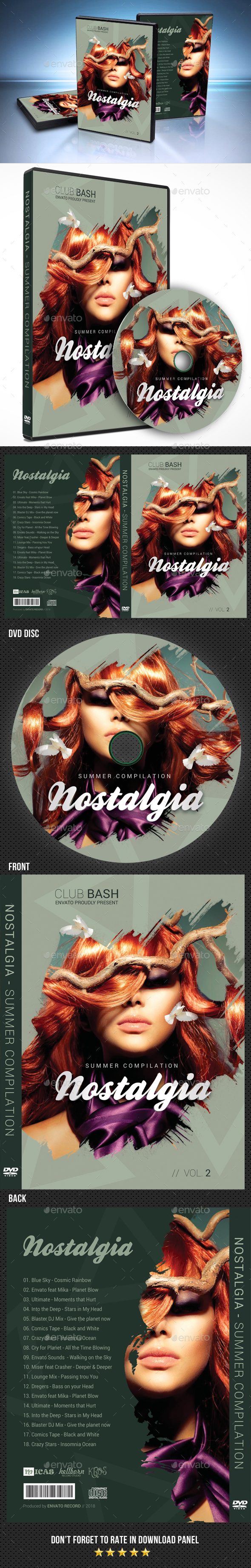 Nostalgia DVD Cover Template - CD & DVD Artwork Print Templates