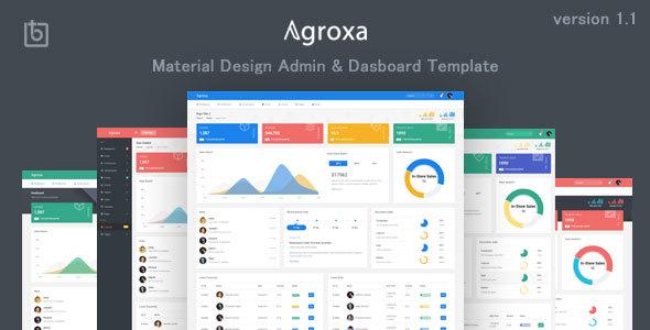 Agroxa - Material Design Admin & Dashboard Template