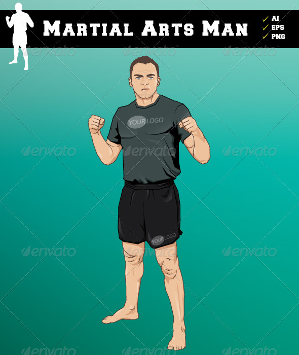 Martial Arts Man - Characters Vectors