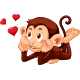 Heart Monkey - GraphicRiver Item for Sale