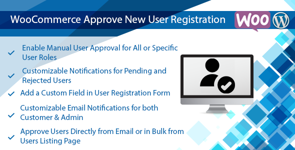 Wordpress & WooCommerce Approve New User Registration Plugin            Nulled