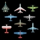 Set of Isolated Military Airplanes or Warplanes - GraphicRiver Item for Sale