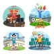 Soccer or Football Fans Celebrating and Cheering - GraphicRiver Item for Sale
