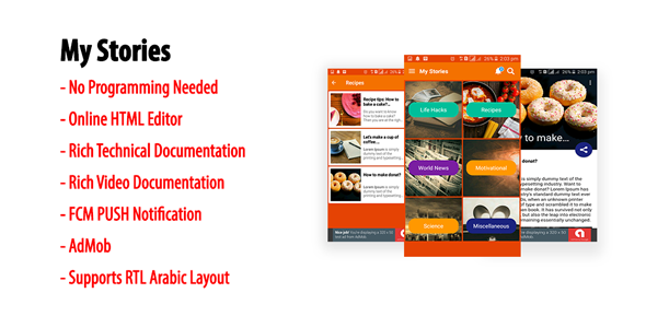 My Stories | Native Android Multi-category Storybook App with AdMob & FCM PUSH Notification - CodeCanyon Item for Sale