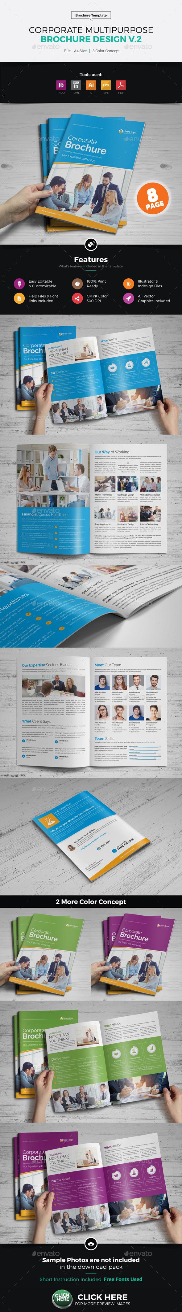 Corporate Multipurpose Brochure Design v2 - Corporate Brochures