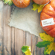 Pumpkins on wooden table. - PhotoDune Item for Sale