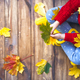 child playing with autumn leaves - PhotoDune Item for Sale