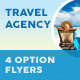 Travel Agency Flyers 5 – 4 Options - GraphicRiver Item for Sale