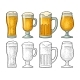 Four Different Glasses for Beer - GraphicRiver Item for Sale