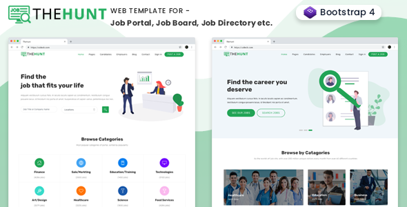 TheHunt - Bootstrap 4 Job Portal Template Free Download | Nulled