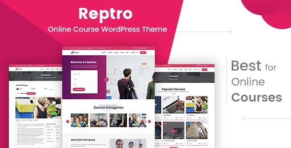 Reptro - Online Course WordPress Theme - Education WordPress