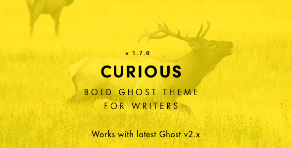Curious - Blog and Magazine Ghost Theme - Ghost Themes Blogging