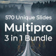 3 in 1 Multipro Pitch Deck Bundle Powerpoint Template - GraphicRiver Item for Sale