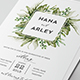 Foliage Wedding Invitation - GraphicRiver Item for Sale