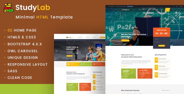Studylab - Education HTML Template Free Download | Nulled