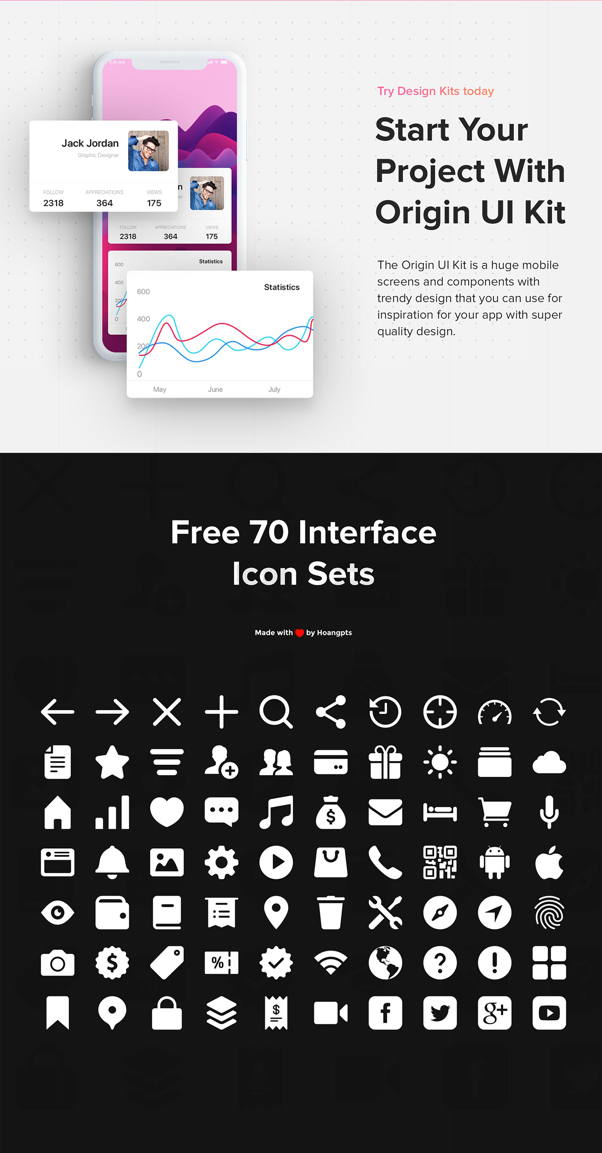 Origin Mobile UI Kit for IphoneX - 3