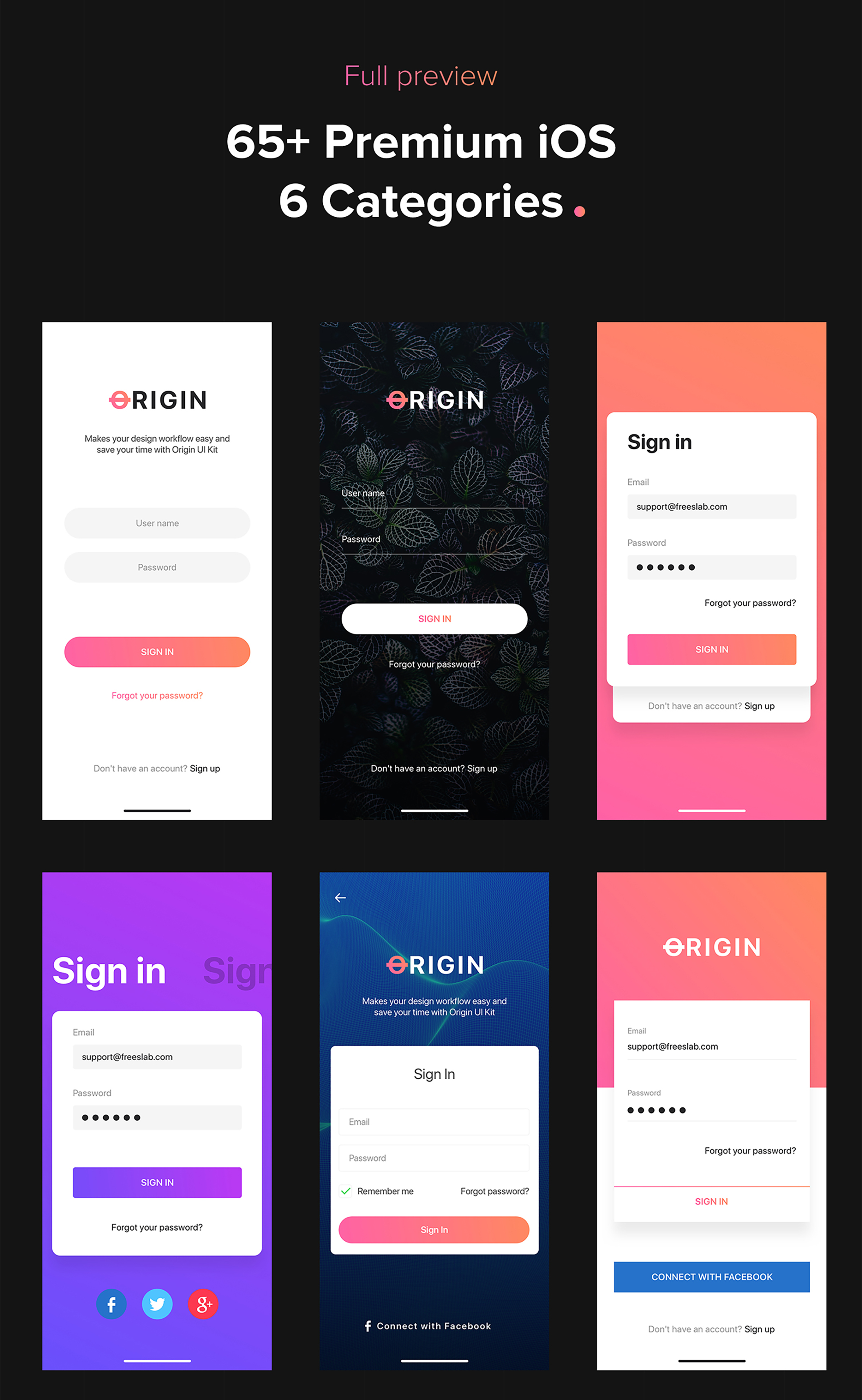 Origin Mobile UI Kit for IphoneX - 4