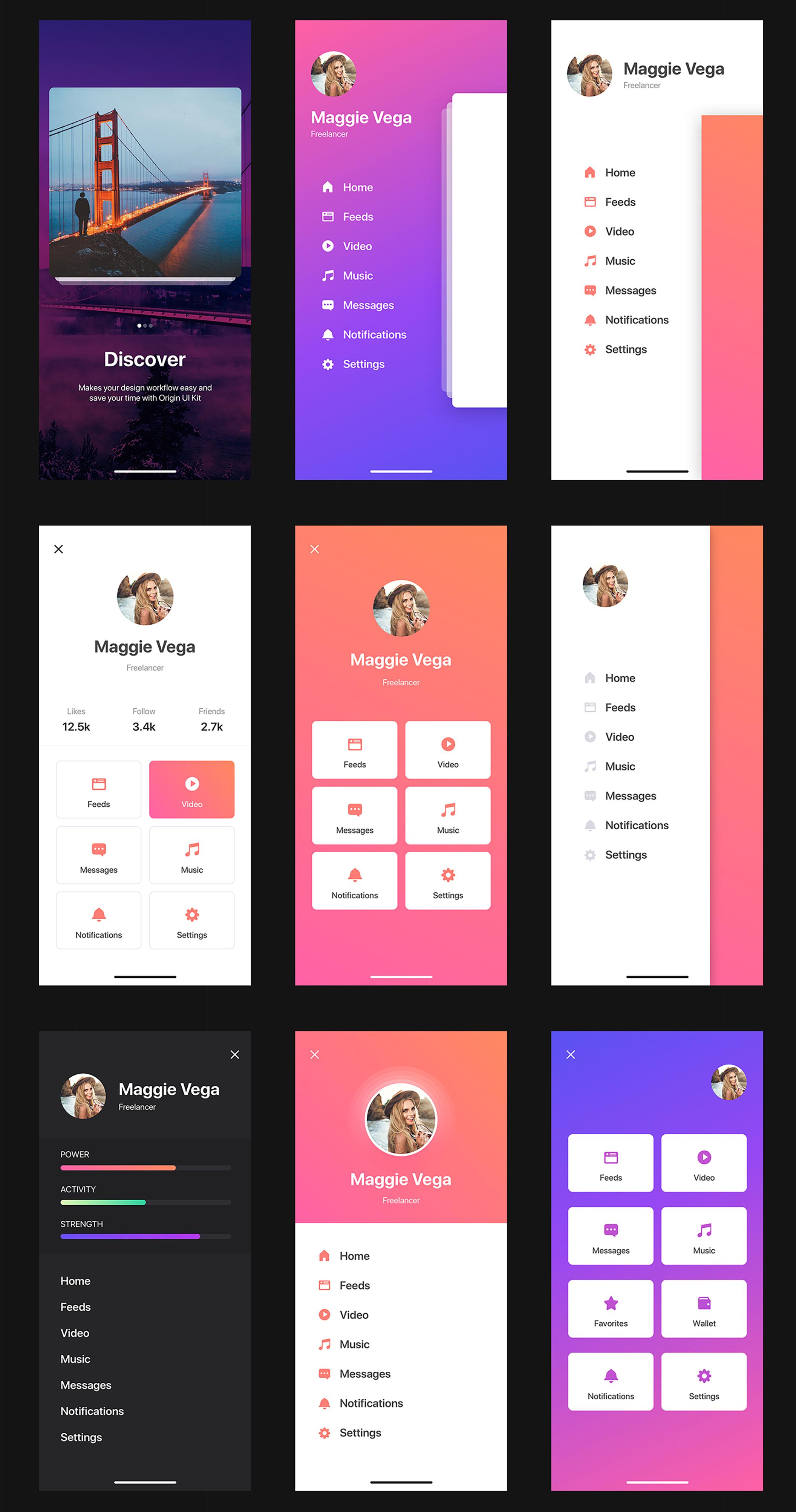 Origin Mobile UI Kit for IphoneX - 7