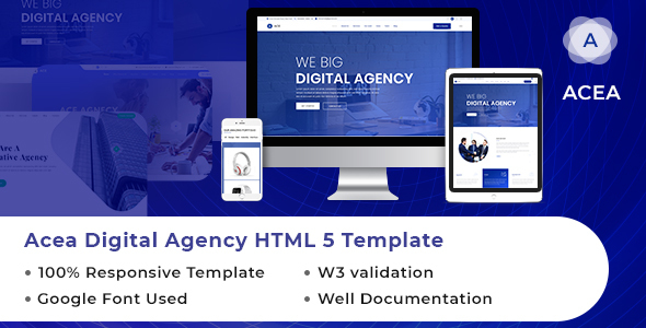 ACEA | Digital Agency HTML Website Template