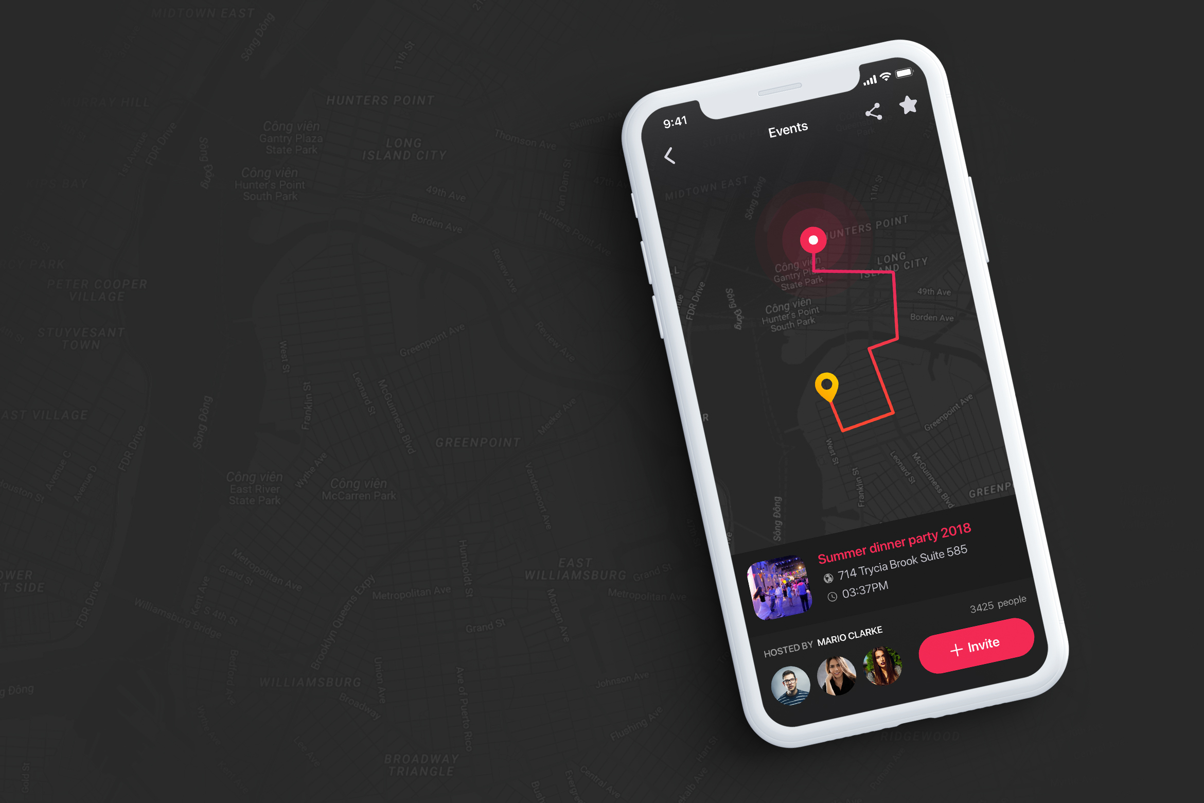 Mappy - Map UI Kit for Mobile App
