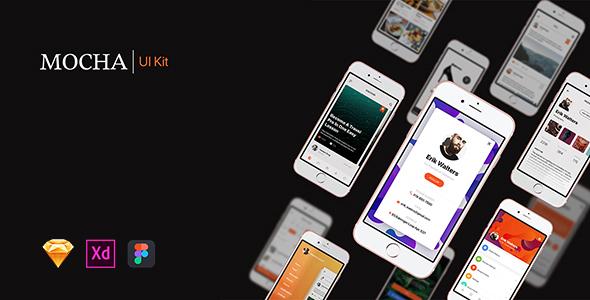 Mocha Mobile UI Kit - Sketch Templates